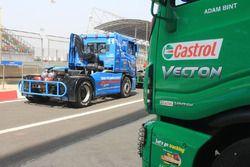 Tata T1 Prima trucks in the pitlane