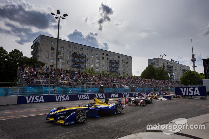 Sébastien Buemi, Renault e.Dams lidera a Jean-Eric Vergne, DS Virgin Racing