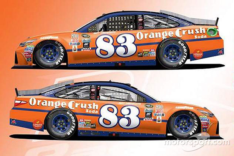 Throwback-Design von Matt DiBenedetto, BK Racing, Toyota