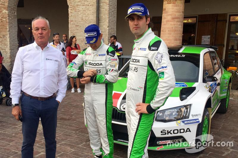 Gianfranco Cunico, Umberto Scandola e Guido D'Amore, Skoda Italia Motorsport