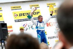 Podium: Race winner Jason Plato, Subaru Team BMR