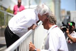 Bernie Ecclestone, con Hermann Tilke, diseñador del circuito