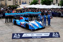 Инес Тайтингер, Реми Стрейбиг, Лео Руссель, #28 IDEC Sport Racing Ligier JSP2 Judd
