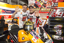 Ganador, Marc Márquez, Repsol Honda Team con su padre