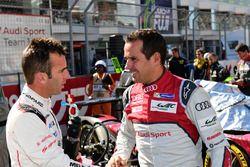 #2 Porsche Team Porsche 919 Hybrid: Romain Dumas and #7 Audi Sport Team Joest Audi R18: Benoit Trélu