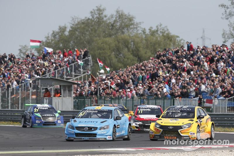 Fredrik Ekblom, Polestar Cyan Racing, Volvo S60 Polestar TC1 and Hugo Valente, LADA Sport Rosneft, Lada Vesta
