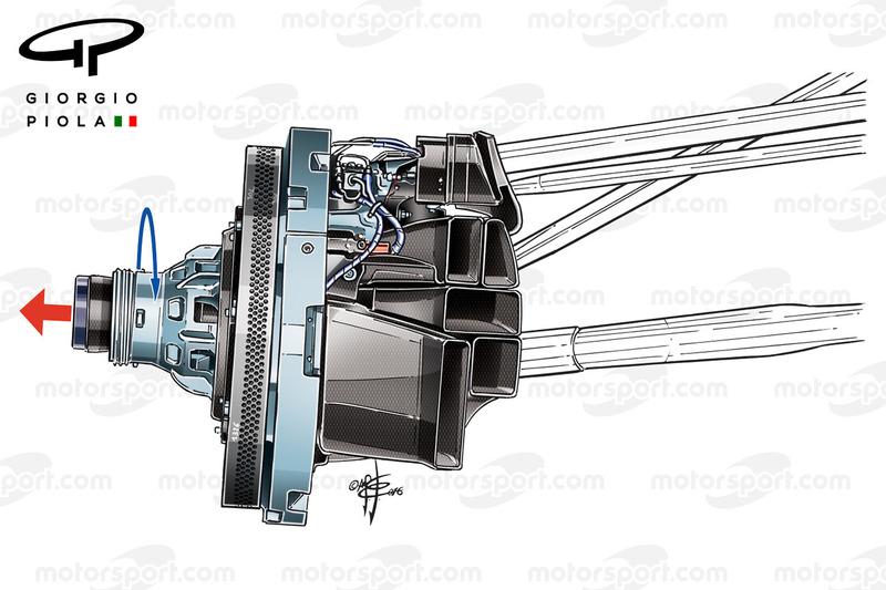Force India VJM09 blown axle, airflow details