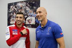 Andrea Iannone, Ducati Team avec l'astronaute Luca Parmitano