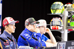 Marc Marquez, Repsol Honda Team, Jorge Lorenzo, Yamaha Factory Racing, et Maverick Viñales, Team Suzuki MotoGP