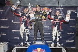 Podium: winnaar Tanner Foust, Andretti Autosport Volkswagen, tweedee Sebastian Eriksson, Honda, derd