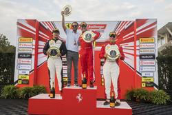 TP podium: #44 Ferrari of Fort Lauderdale Ferrari 458: Carlos Kauffmann