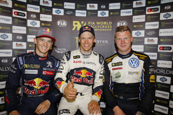 Podium: Race winner Mattias Ekström, EKS RX; second place Timmy Hansen, Team Peugeot Hansen; third p