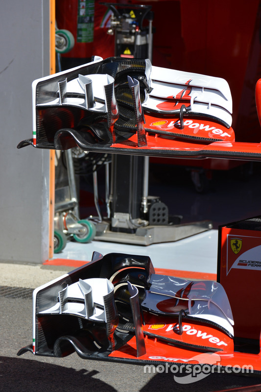 Ferrari SF16-H, Frontwing detail