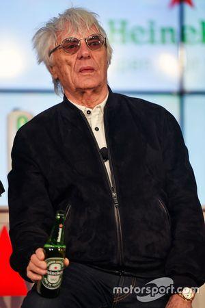 Bernie Ecclestone, all'annuncio della sponsorizzazione Heineken