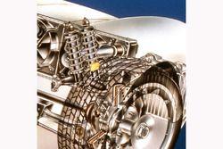 Porsche 959 kesit - çift amortisör
