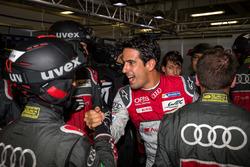 Pole for the #8 Audi Sport Team Joest Audi R18 e-tron quattro: Lucas di Grassi, Loic Duval, Oliver J