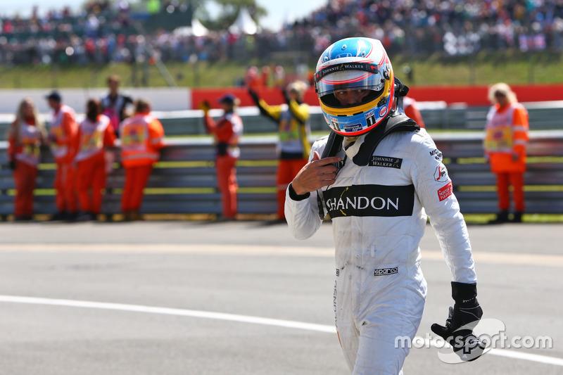 Fernando Alonso, McLaren nel parco chiuso