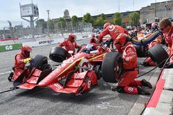 Scott Dixon, Chip Ganassi Racing Chevrolet, dans les stands