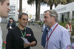 Juan Pablo Montoya y Carlos Sainz