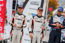 Podio: segundo lugar Ott Tanak, Raigo Molder, DMACK World Rally Team