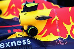Both Red Bull Racing cars parked in parc ferme