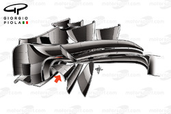 Lotus E23 front wing, bottom view