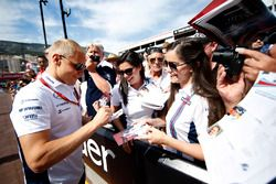 Valtteri Bottas, Williams, firma de autógrafos para los aficionados