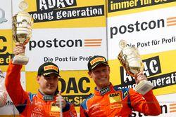 Podium: derde #25 kfzteile24 - APR Motorsport, Audi R8 LMS: Daniel Dobitsch, Edward Sandström