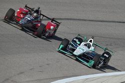 Simon Pagenaud, Team Penske Chevrolet, Graham Rahal, Rahal Letterman Lanigan Racing Honda