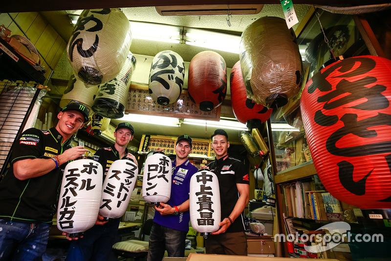 Pol Espargaró, Monster Yamaha Tech 3, Bradley Smith, Monster Yamaha Tech 3, Jorge Lorenzo, Yamaha Factory Racing, Takaaki Nakagami, Honda Team Asia