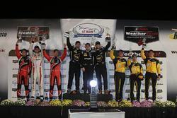 PC-Podium: Sieger #52 PR1 Mathiasen Motorsports, ORECA FLM09: Robert Alon, Tom Kimber-Smith, Jose Gu