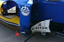 Sauber C35 bargeboards en vloer detail