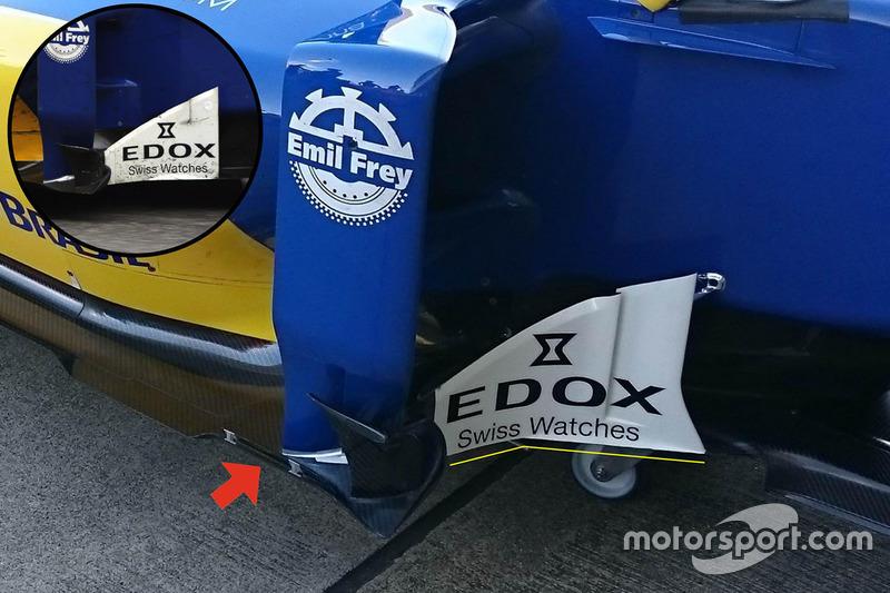 تفاصيل الأرضيّة والزعانف الجانبيّة على سيارة ساوبر سي35