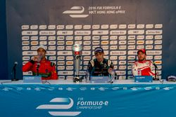 Press Conference: Race winner Sébastien Buemi, Renault e.Dams; second place Lucas di Grassi, ABT Schaeffler Audi Sport; third place Nick Heidfeld, Mahindra Racing