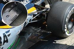Sahara Force India F1 VJM09 detalle trasero