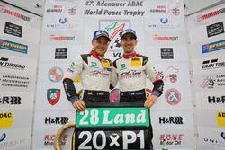 Podium: Sieger #28 Land Motorsport, Audi R8 LMS: Christopher Mies, Connor De Phillippi