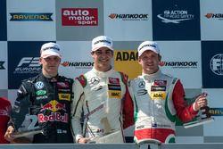 podium, Niko Kari, Motopark Dallara F312 - Volkswagen, Lance Stroll, Prema Powerteam Dallara F312 - Mercedes-Benz, Nick Cassidy, Prema Powerteam Dallara F312 - Mercedes-Benz