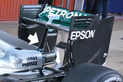 Mercedes AMG F1 W07 detail achtervleugel