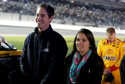 Joey Logano, Team Penske Ford with his wife