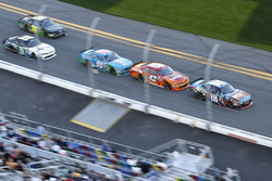 Bobby Labonte, Joe Gibbs Racing Toyota; Kyle Larson, Chip Ganassi Racing Chevrolet; Aric Almirola, Ford
