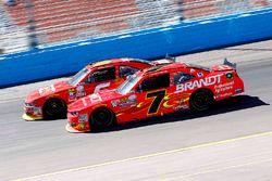 Justin Allgaier, JR Motorsports Chevrolet and Darrell Wallace Jr., Roush Fenway Racing Ford