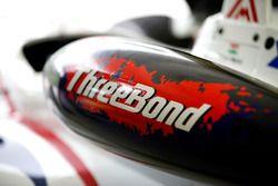 Arjun Maini, ThreeBond with T-Sport, Dallara F312 ThreeBond, ThreeBond airbox at the car
