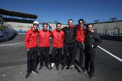 Lucas di Grassi, ABT Schaeffler Audi Sport; Daniel Abt, ABT Schaeffler Audi Sport; Jacky Eeckelaert, Gwen Bourcier; Thomas Biermaier und Franco Chiocchetti