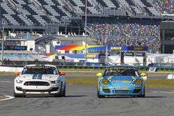 #15 Multimatic Motorsports Mustang Boss 302R: Billy Johnson, Scott Maxwell, #13 Rum Bum Racing Porsc
