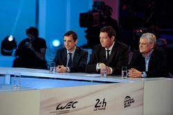 ACO presidente Pierre Fillon, WEC CEO Gérard Neveu, Jacques Nicolet
