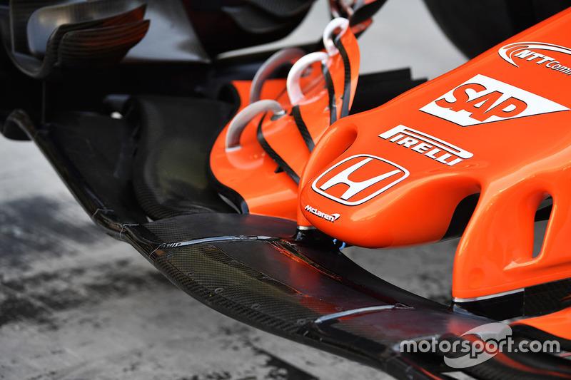 McLaren MCL32 detalle de nariz