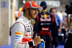 Lewis Hamilton, McLaren celebra la pole position