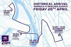 Karte der Sébastien Buemi Roadshow in Zürich