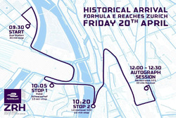 Mappa del road show di Sébastien Buemi a Zurigo