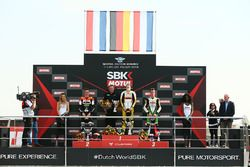 Podium SSP300: Racewinnaar Luca Grunwald, tweede plaats Glenn Van Straalen, derde plaats Scott Deroue